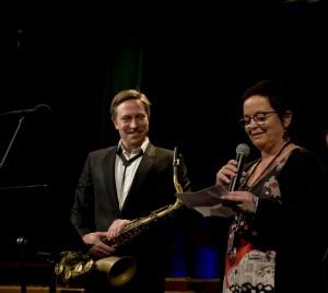Håkon Kornstad ble hedret med Buddy-prisen for 2015 (foto: Francesco Saggio)