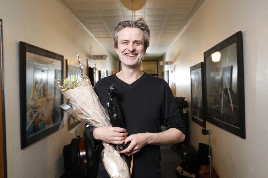 Audun Kleive mottok Buddy-prisen for 2017 (foto: Niklas Lello/Norsk jazzforum)