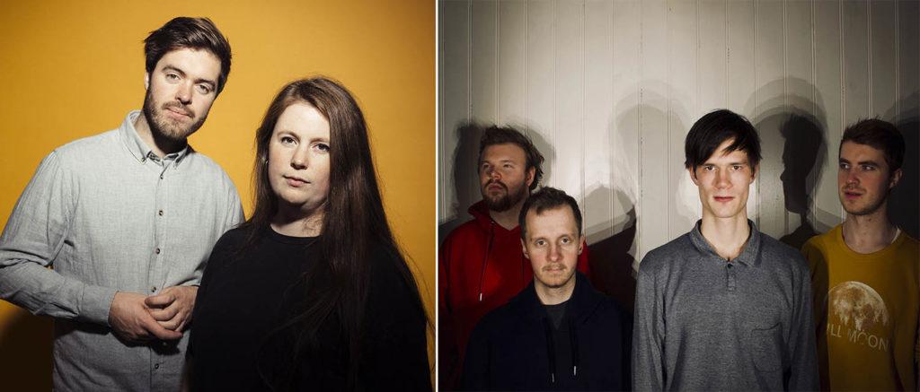 Spiller på Vossa Jazz: Kjemilie (til venstre) og Relling