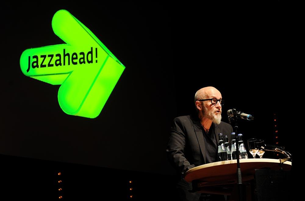 Lars Saabye Christensen var blant åpningstalerne på Jazzahead Foto: Thomas Kolbein Bjørk Olsen
