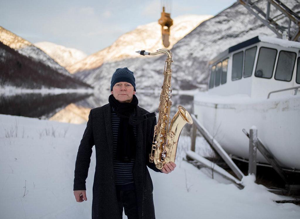 Karl Seglem er klar for jazzahead! med bukkehorn og saksofon. Foto: Oddleiv Apneseth