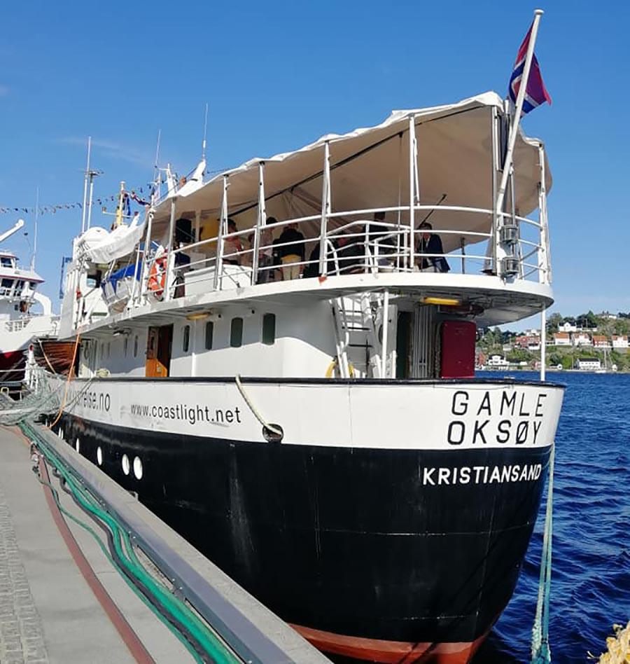 Arrangementene under Kulturdagen finner sted i Bakgården og på skipet Gamle Oksøy.