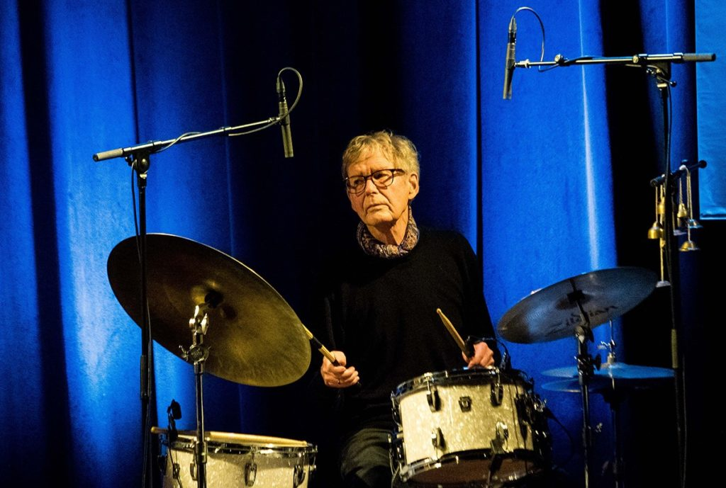 Jon Christensen fra Nasjonal Jazzscene Victoria under Oslo Jazzfestival 2018. Foto: Terje Mosnes