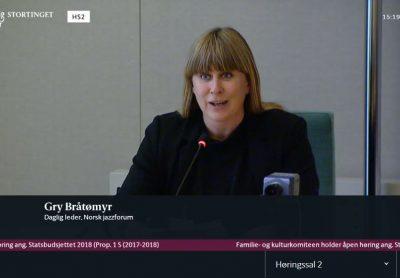 Norsk jazzforum i høringer på Stortinget